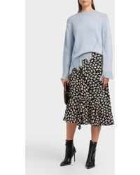 SJYP - Distressed Cotton-blend Jumper, Size S, Women, Blue - Lyst