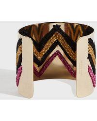 Missoni - Large Zigzag Cuff Bracelet, Size Os, Women, Pink - Lyst