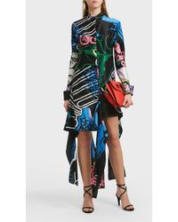 JW Anderson - Printed Cotton And Silk-blend Dress, Uk10 - Lyst