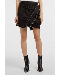 Alexander Wang - Asymmetric Shell Mini Skirt, Size Us4, Women, Black - Lyst