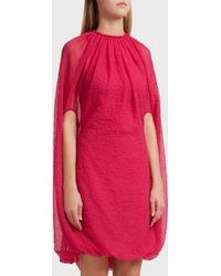 Helmut Lang - Balloon Chiffon Dress, Size Xs, Women, Pink - Lyst