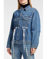 Proenza Schouler - Pswl Denim Jacket, Size Xs, Women, Blue - Lyst
