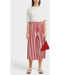 Norma Kamali - Striped Jersey Culottes - Lyst
