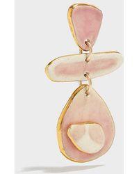 Sonia Boyajian - Dots Gold-tone Ceramic Earring - Lyst