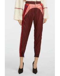 Isabel Marant - Raruso Shell Track Trousers, Size Fr36, Women, Red - Lyst