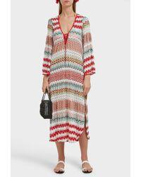 Missoni Donna Lace-up Crochet-knit Midi Kaftan