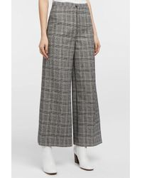Isabel Marant - Trevi Prince Of Wales Checked Tweed Trousers, Fr40 - Lyst