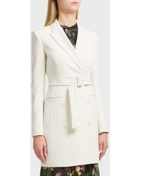 Theory - Double-breasted Blazer, Size Us10, Women, Ivory - Lyst