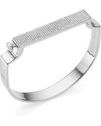 Monica Vinader | Signature Diamond Bangle | Lyst