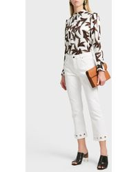 Victoria, Victoria Beckham | Cropped Flared Jeans | Lyst