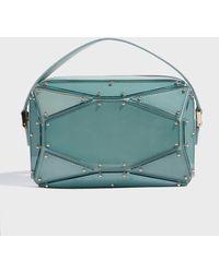Elie Saab - Radiant Leather Clutch, Size Os, Women, Blue - Lyst