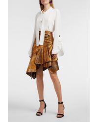 Peter Pilotto | Asymmetric Metallic Jacquard Skirt | Lyst
