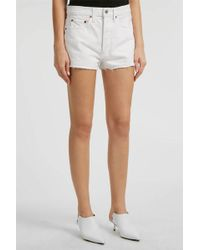 RE/DONE - Frayed Denim Shorts - Lyst
