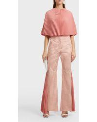 Sara Battaglia - Pleated Cape Top, Size It44, Women, Pink - Lyst