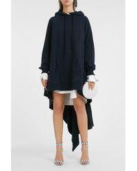 Monse - Asymmetric Cotton Hooded Sweatshirt - Lyst