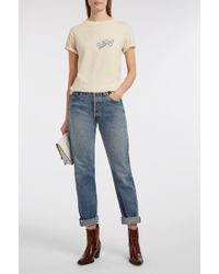 Elizabeth and James - Pepper Distressed Printed Jersey T-shirt - Lyst