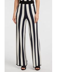 Courreges - Striped Stretch-knit Wide-leg Trousers, 2 - Lyst