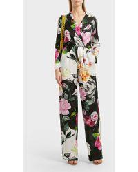 Off-White c/o Virgil Abloh - Printed Silk-jacquard Jumpsuit - Lyst