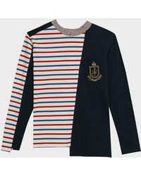 JW Anderson - Breton Panelled Cotton Shirt - Lyst