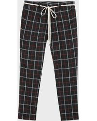 Represent - Checked Straight-leg Trousers - Lyst