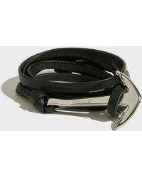 Miansai - Anchor On Leather Bracelet - Lyst
