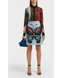 Elie Saab - Butterfly Embroidered Skirt - Lyst