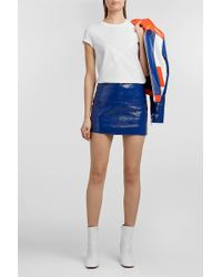 Courreges - Vinyl Mini Skirt, Size Fr34, Women, Blue - Lyst