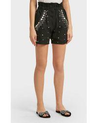 Isabel Marant - Esytis Rivet Detail Shorts, Size Fr36, Women, Black - Lyst