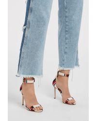 Monse - Striped Satin Sandals, Size It37, Women, Stripes - Lyst