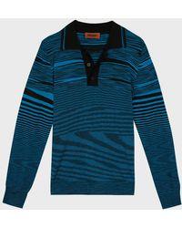 Missoni - Striped Polo Shirt - Lyst