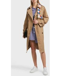 SJYP - Embroidered Cotton-blend Trench Coat - Lyst
