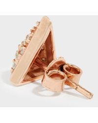 Maha Lozi - On The Edge Rose Gold-plated Crystal Earrings - Lyst