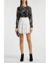 Isabel Marant - Marion Broderie Anglaise Ramie Mini Skirt - Lyst