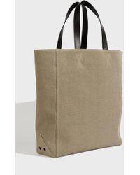 Off-White c/o Virgil Abloh - Sculpture Tote Bag, Size Os, Women, Beige - Lyst