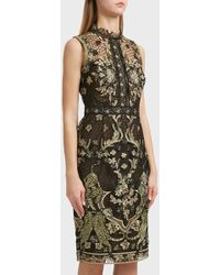 Notte by Marchesa - Embroidered Dress, Size Us8, Women, Black - Lyst