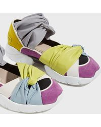 Emilio Pucci - Leather And Suede Trainers - Lyst