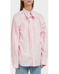 Y. Project - Cotton Shirt, Size Xxs, Women, Pink - Lyst