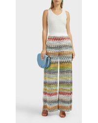 5656732aac9 Lyst - Missoni Mare Halterneck Zig Zag Knitted Jumpsuit