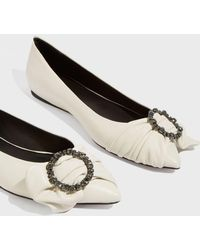 Isabel Marant - Laagly Leather Ballet Flats - Lyst