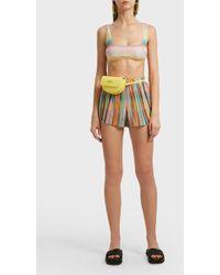 Missoni - Striped Crochet-knit Shorts - Lyst