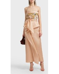 Marchesa - Strapless Embroidered Gown - Lyst