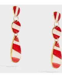 Sonia Boyajian - Buren Gold-tone Ceramic Earrings - Lyst