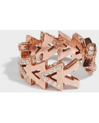 Maha Lozi - Camden Rose Gold-plated Crystal Ring - Lyst