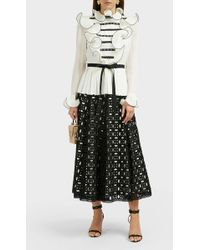 Andrew Gn - Ruffle Peasant Blouse - Lyst