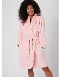 f3b48a0eb8 Lyst - Dorothy Perkins Grey Waterfall Dressing Gown in Gray
