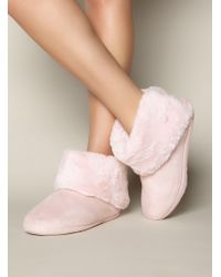 Boux Avenue - Fold Over Booties - Lyst