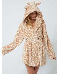bc09d7155b Boux Avenue - Pretty Giraffe Dressing Gown - Lyst