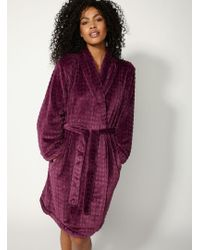 bb757bf1f5 Lyst - Boux Avenue Waffle Dressing Gown in Gray