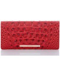 ea974628badd Lyst - Michael Kors Medium Carnation Slim Wallet