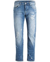 True Religion - Destroyed-Jeans ROCCO Relaxed Skinny Fit - Lyst